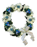 Christmas Wreath Blue and white Stock Photography