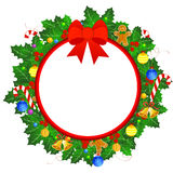 Christmas wreath border royalty free illustration
