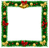 Christmas Wreath Border Frame Stock Images