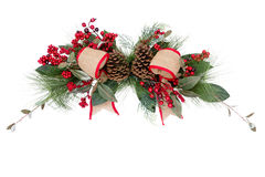 Christmas Wreath Bows And Pine Cones Royalty Free Stock Images