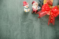 Free Christmas Wreath Bread With Santa Claus, Space For Text. Christmas Background Stock Images - 104844544