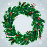 Christmas wreath with candies Royalty Free Stock Images