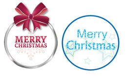 Christmas wreath cards Royalty Free Stock Image