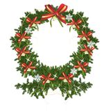 Christmas wreath, cdr vector royalty free stock image