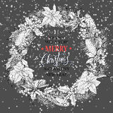 Christmas wreath.Christmas calligraphy lettering vector design. royalty free stock photo