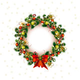 Christmas wreath, christmas deko tree in white background, vector Royalty Free Stock Photography