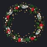 Christmas Floral Bauble and Star Wreath
