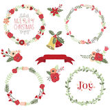 Christmas Wreath Clip Art. A Vector Illustration of Christmas Wreath Clip Art Stock Photography