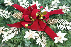 Christmas wreath close-up Stock Images