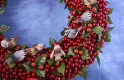 Christmas Wreath Close Up. Royalty Free Stock Images