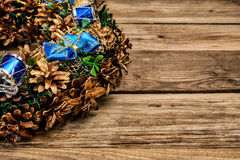 Christmas wreath close up Royalty Free Stock Image