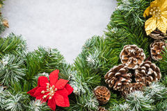 Christmas wreath. Close up of a Christmas Wreath with pine cones Stock Image