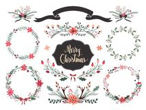 Christmas wreath collection Stock Photo