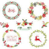 Christmas Wreath Collection Royalty Free Stock Photography