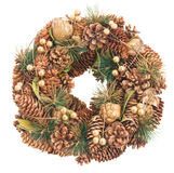 Christmas wreath with cones Stock Image