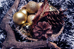Christmas wreath with cones Royalty Free Stock Photography