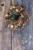 Christmas wreath with cones Royalty Free Stock Photo