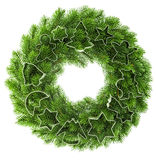 Christmas wreath with cookies cutter decorations Royalty Free Stock Image
