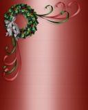 Christmas wreath corner design Royalty Free Stock Image