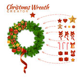 Christmas Wreath Creator Royalty Free Stock Images