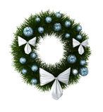 Christmas Wreath. 3D generated model of christmas wreath Stock Photography