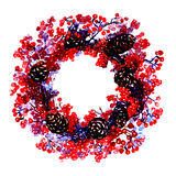 Christmas wreath decorated Stock Images