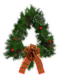 Christmas wreath decoration Stock Photos