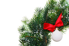 Christmas wreath with decoration ball Royalty Free Stock Image