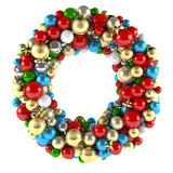 Christmas wreath decoration from ball toys Royalty Free Stock Image