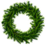 Christmas wreath without decoration. Empty wreath of pine branches isolated on white background. Qualitative vector (EPS-10) illustration for new years day Royalty Free Stock Photography