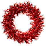 Christmas wreath without decoration. Empty wreath of red pine branches isolated on white background. Qualitative vector illustration for  christmas, new year's Royalty Free Stock Image