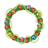 Christmas Wreath Decoration. Royalty Free Stock Photography