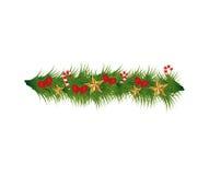 Christmas wreath decoration icon Royalty Free Stock Photo