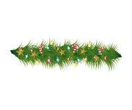 Christmas wreath decoration icon Royalty Free Stock Photos