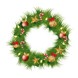 Christmas wreath decoration icon. Vector illustration design Stock Image