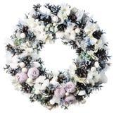 Christmas wreath decoration isolated. On white background royalty free stock image