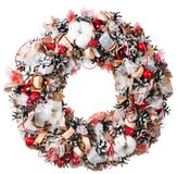 Christmas wreath decoration isolated. On white background stock images