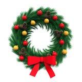 Christmas Wreath Decoration Royalty Free Stock Image