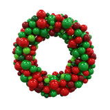 Christmas Wreath Decoration. Isolated on white background. 3D render Stock Photo