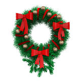 Christmas Wreath Decoration Royalty Free Stock Photos