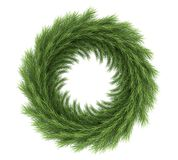 Christmas Wreath Decoration Isolated. On white background. 3D render Royalty Free Stock Images