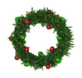 Christmas Wreath Decoration Isolated. On white background. 3D render Stock Image