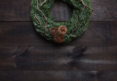Christmas wreath decoration Stock Image