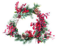 Christmas wreath decoration Stock Photography