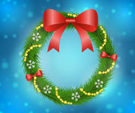 Christmas wreath decoration. Vector illustration Royalty Free Stock Images
