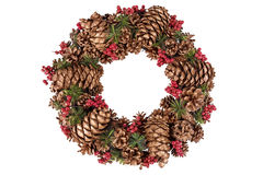 Christmas wreath with decorations Stock Photography
