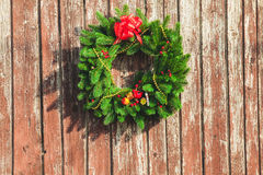 The Christmas wreath Stock Photo