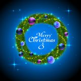 Christmas wreath decorative background. Stock Images