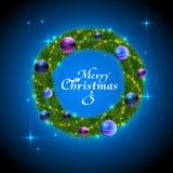 Christmas wreath decorative background. Christmas wreath decorative holiday background royalty free illustration