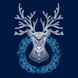 Christmas Wreath With Deer Head Stock Photography